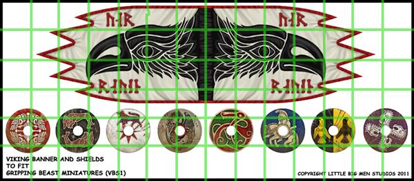 Viking Banner and Shields – Little Big Men Studios