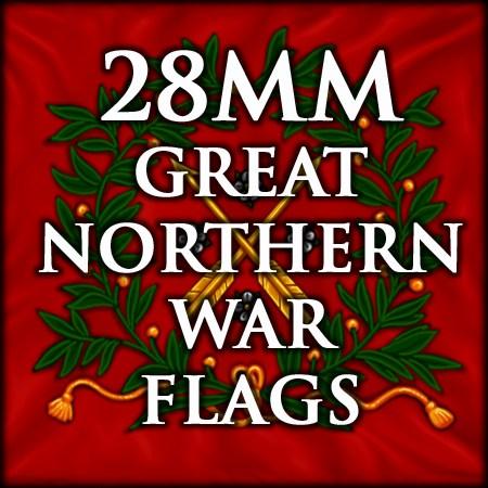 28mm Gt. Northern War flags